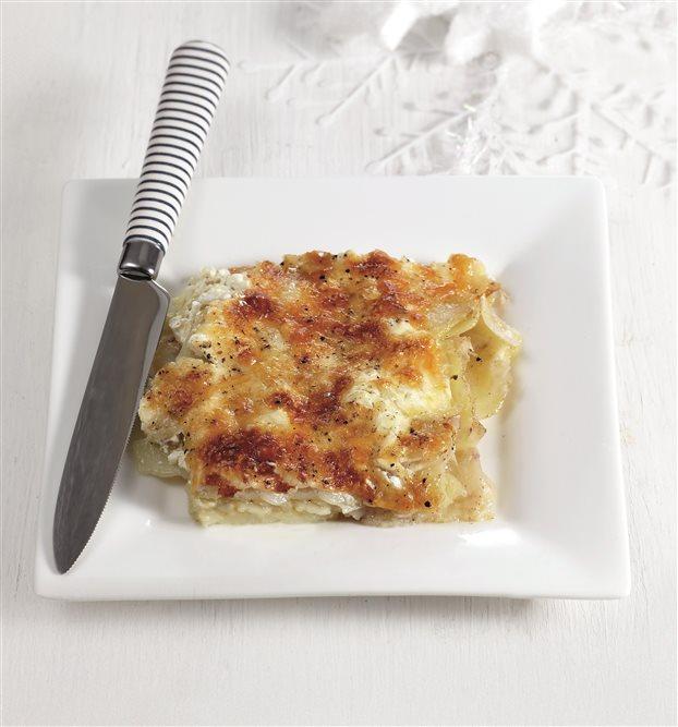 Πατάτες και σελινόριζες γκρατέν