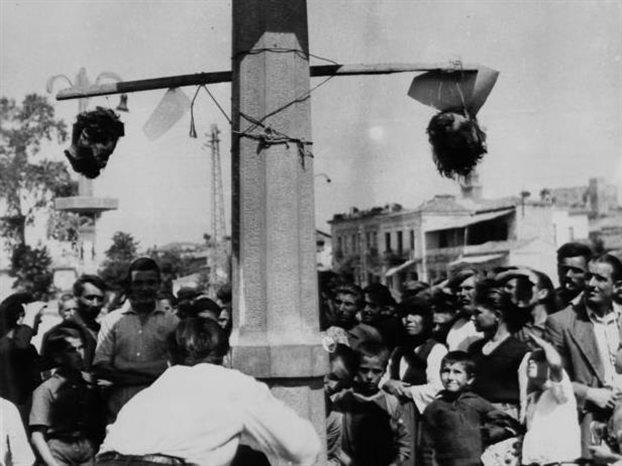 Αρης Βελουχιώτης: Αι κεφαλαί εξετέθησαν εις κοινήν θέαν